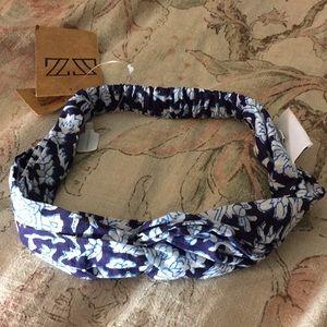"Anthropologie headband ""SZ BLOCK-PRINT"" $39 NEW"